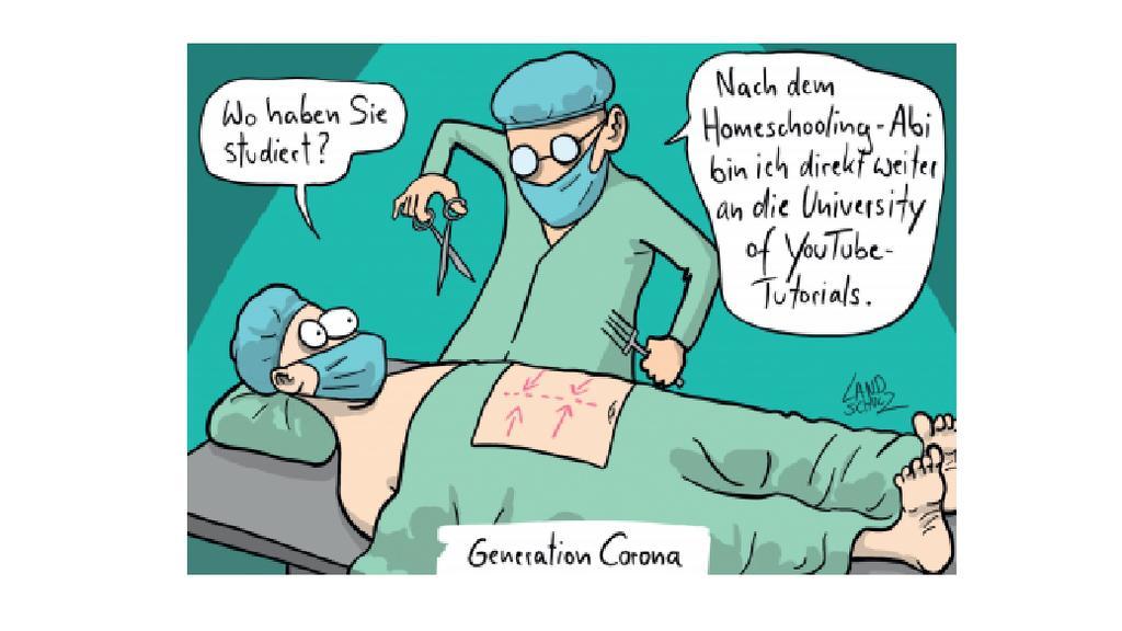 """Ein Cartoon von Dorthe Landschulz aus dem Buch """"Die große Freiheit - Cartoons für nach Corona""""."""