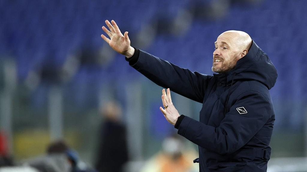 ROME - Ajax coach Erik ten Hag during the UEFA Europa League Quarter Final match between AS Roma and Ajax Amsterdam at Stadion Olimpico on April 15, 2021 in Rome, Italy. ANP MAURICE VAN STEEN UEFA Europa League 2020/2021 xVIxANPxSportx/xxANPxIVx ***
