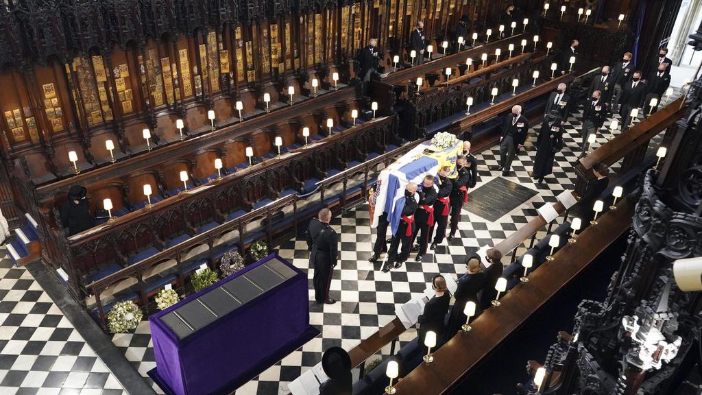 Bei der Trauerfeier für Prinz Philip hielt sich die britische Königsfamilie streng an die Corona-Regeln.