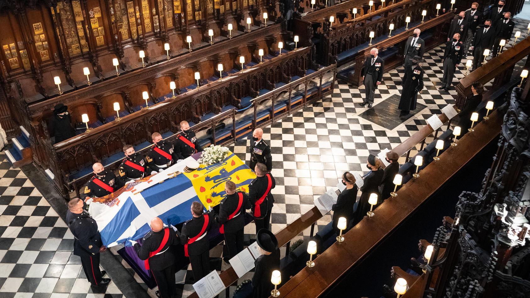 Trauerfeier und Beisetzung von Prinz Philip auf Schloss Windsor