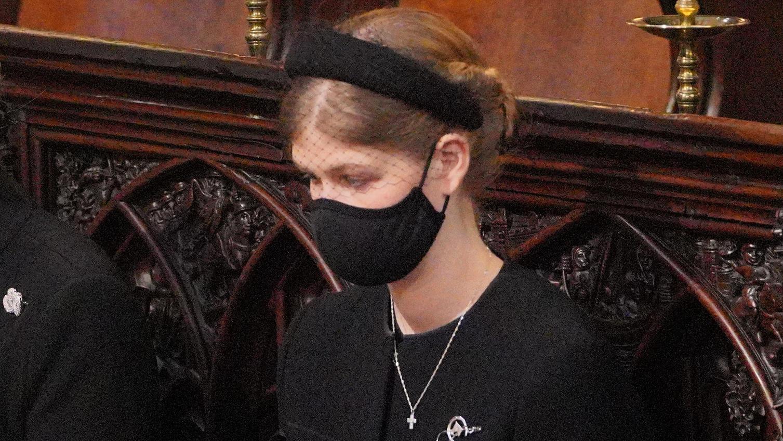 Lady Louise Windsor bei der Trauerfeier für ihren Großvater Prinz Philip am 17. April.