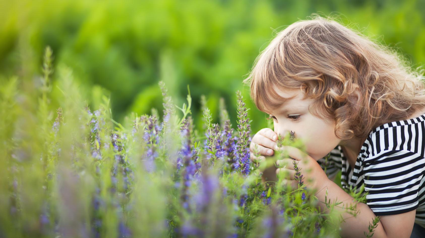 Kinder erleben ihre Umwelt mit allen Sinnen.
