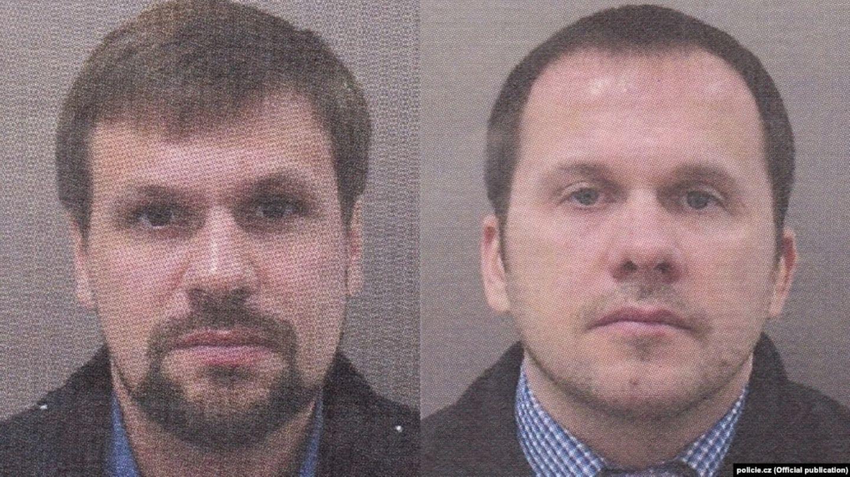 """Die tschechische Polizei veröffentlichte dieses Foto und fahndet nach einem """"Ruslan Boshirow"""" und """"Alexander Petrow"""".  Auch britische Behörden fahden seit 2018 mit diesen Fotos nach den beiden Männern."""