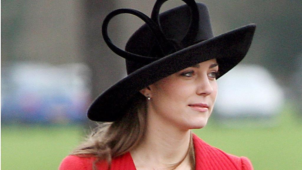 Kate Middleton bei  der Abschlussparade der Royal Military Academy in Sandhurst Ende 2006.