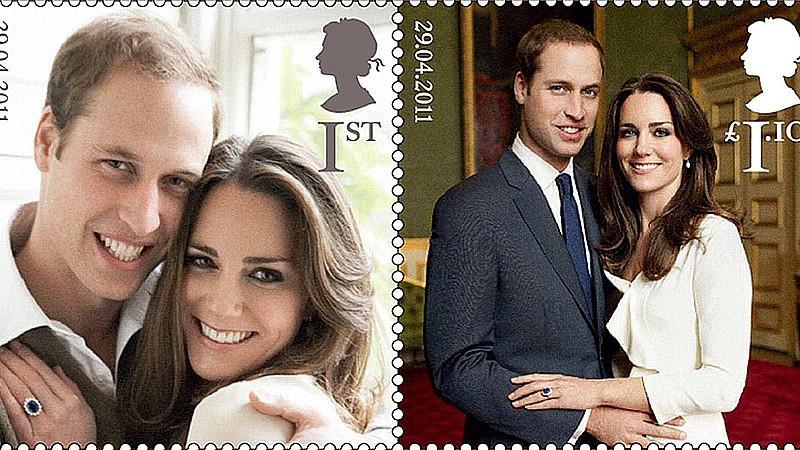 Die Verlobungsfotos von Prinz William und Kate schafften es auf die Briefmarken der Royal Mail.