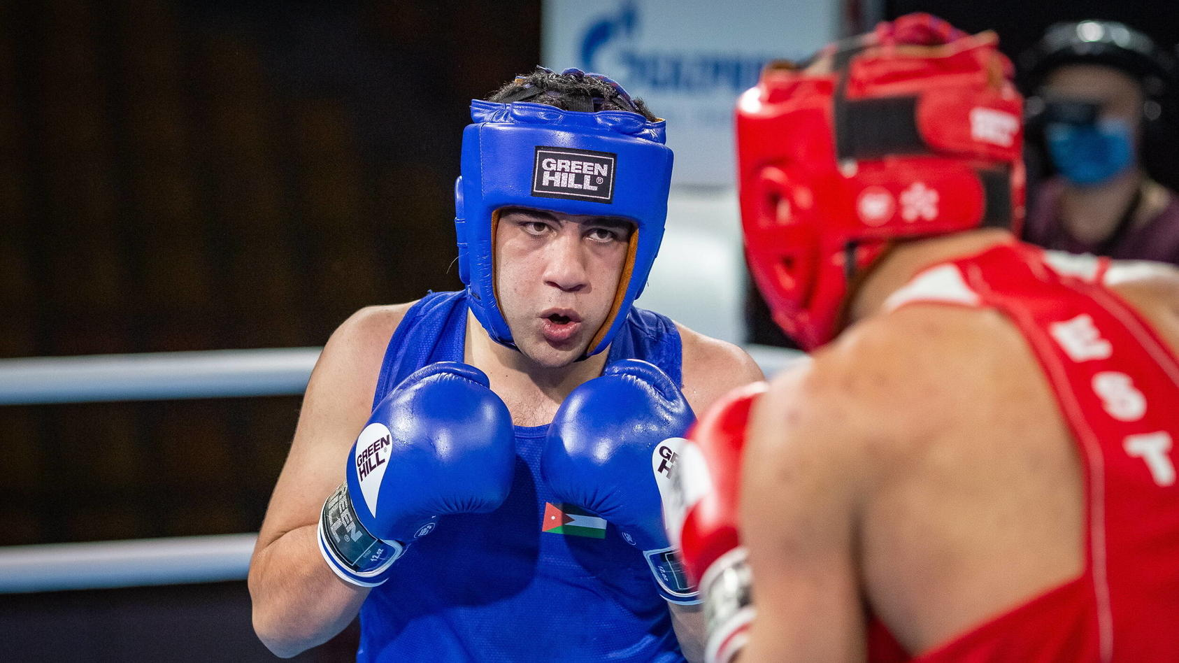 Rashed Al-Swaisat (l.) im Kampf gegen Anton Winogradow