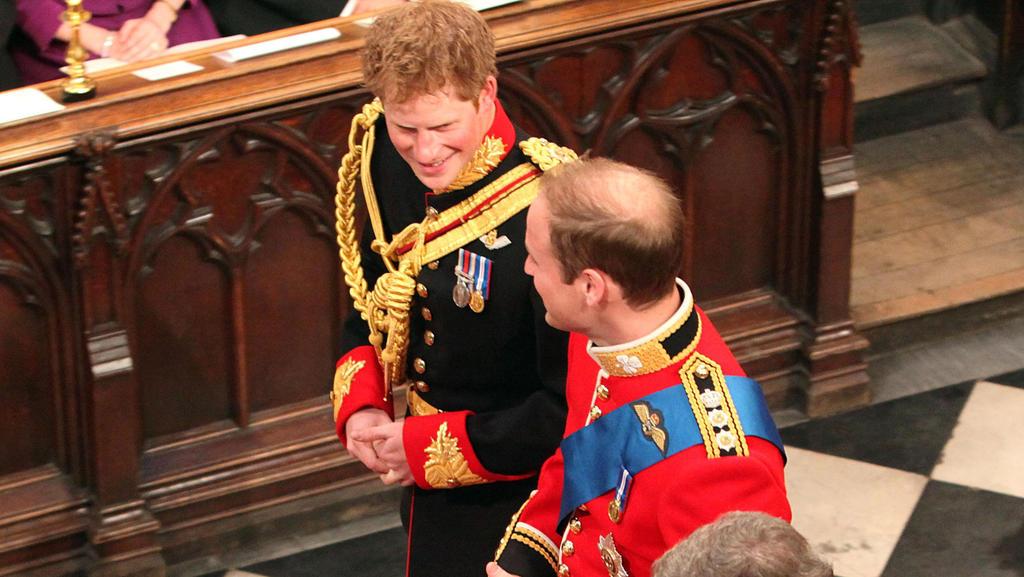 Prinz Harry als Trauzeuge von Prinz William bei dessen Hochzeit am 29. April 2011.