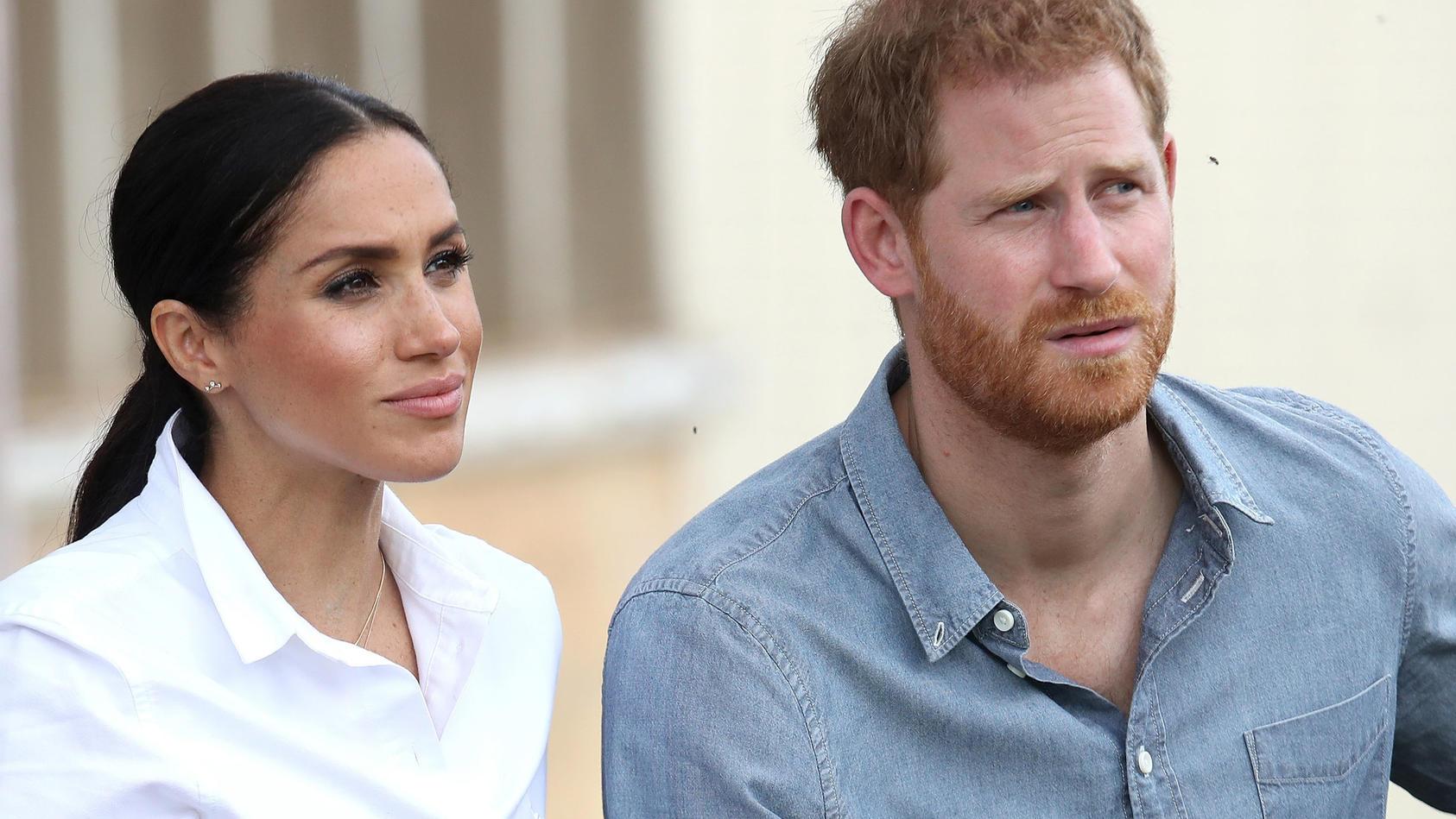 Prinz Harry,  seine Frau Meghan und die Kinder wollen die Queen besuchen
