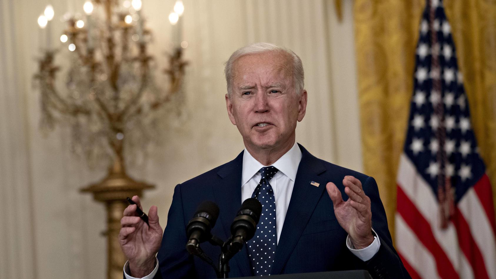 Joe Biden ist seit 100 Tagen als Präsident der USA  im Amt.