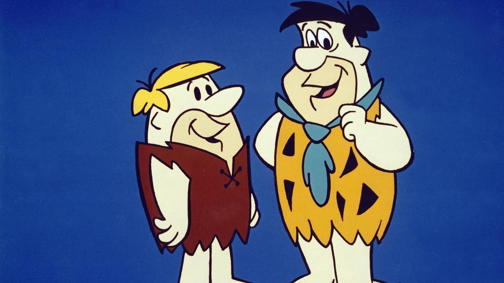 Familie Feuerstein, USA 1960, aka: The Flintstones, TV-Serie, Fernsehserie, Zeichentrick, Zeichentrickfilm, Zeichentrickserie, Regie: Joseph Barbera, Ralph Goodman, Darsteller: Fred Feuerstein, Barney Geröllheimer UnitedArchives00488742