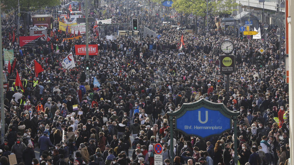 Demonstration zum 1. Mai in Berlin