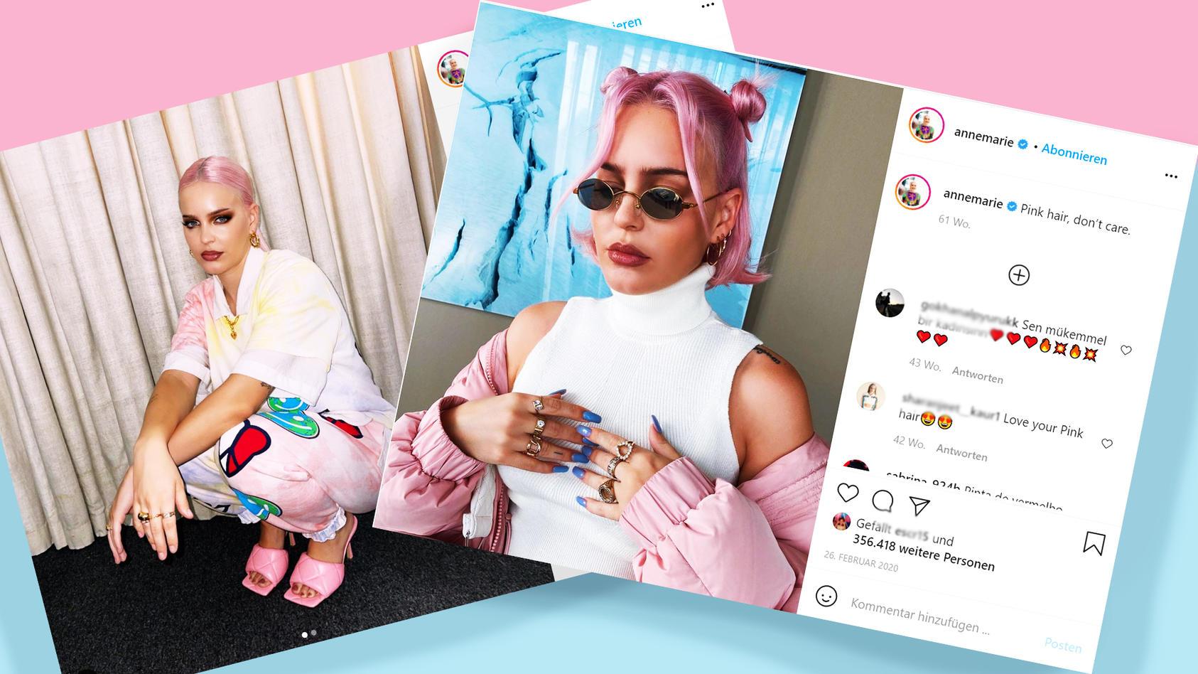 Anne-Marie ist großer Fan der Trend-Farbe Pastell-Pink.