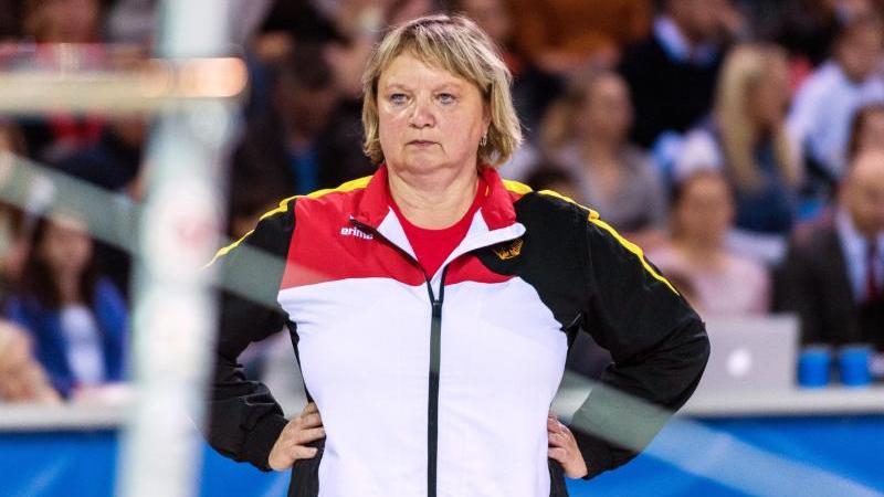 Die Deutsche Frauen-Trainerin Gabriele Frehse. Foto: picture alliance/Catalin Soare/dpa/Archiv