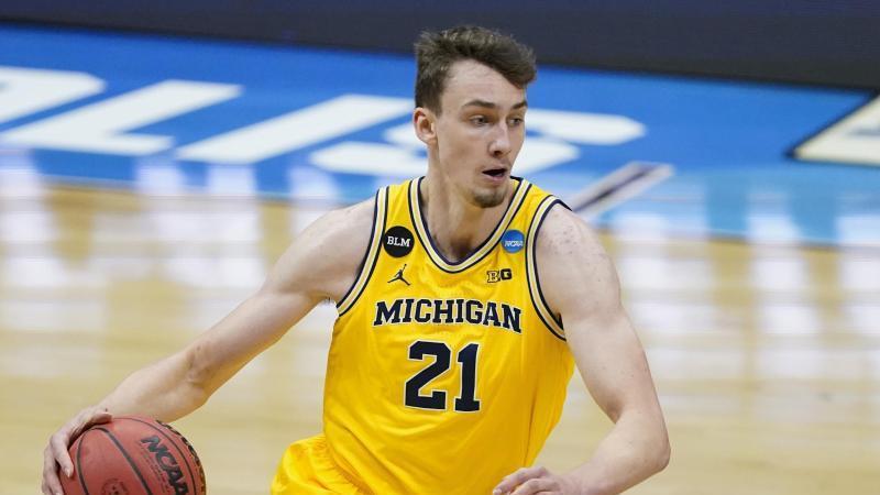 Franz Wagner von den Michigan Wolverines in Aktion. Foto: Darron Cummings/AP/dpa/Archivbild
