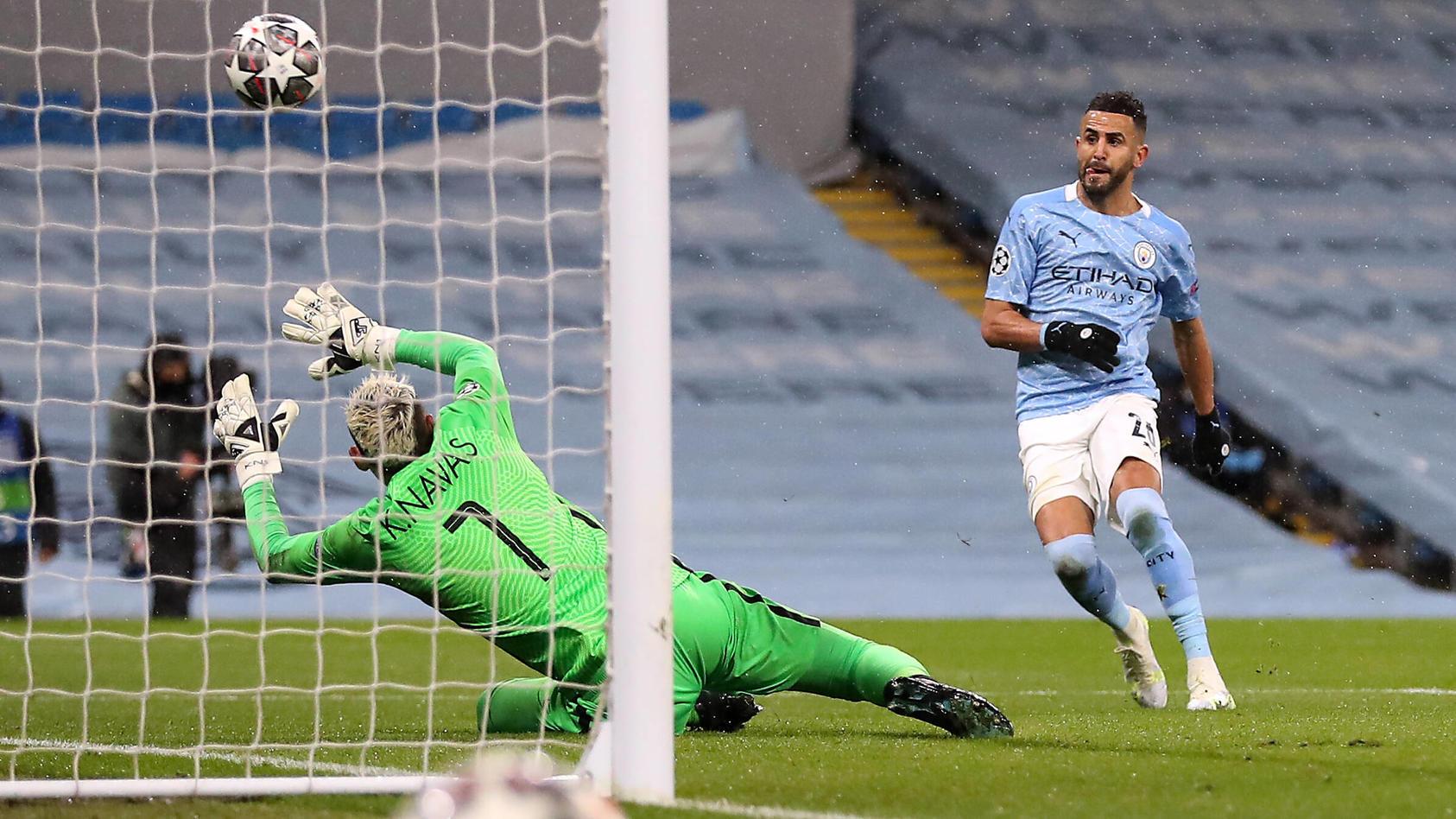 Riyad Mahrez erzielte beide Tore für Manchester City.