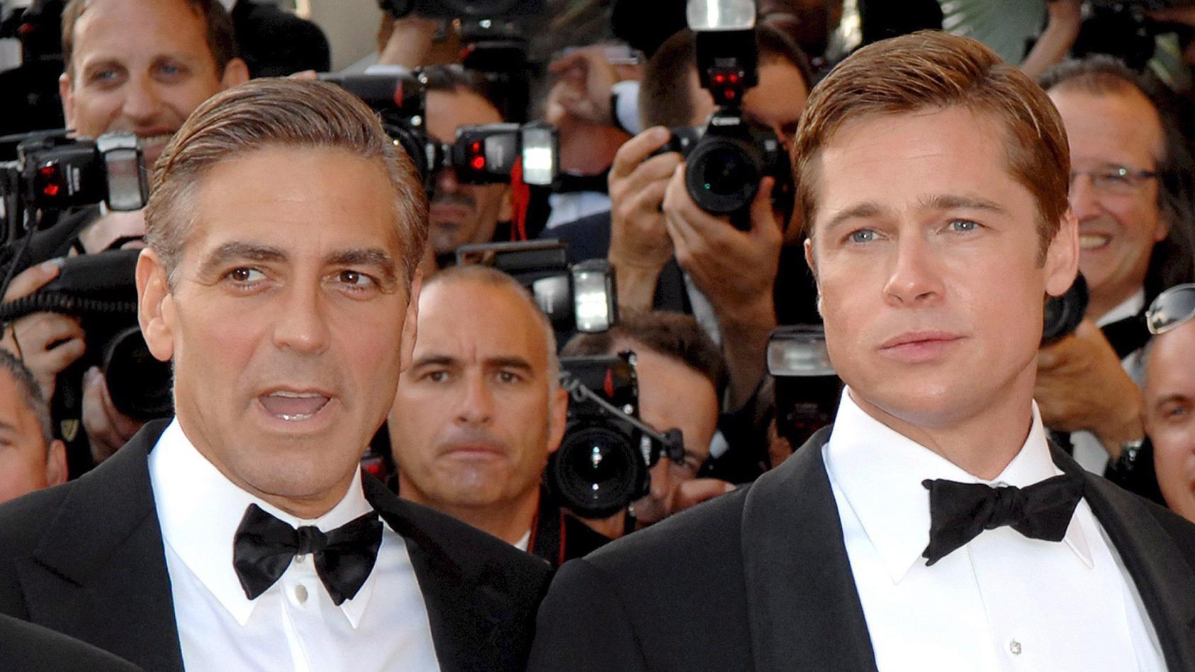 George Clooney und Brad Pitt bei den Filmfestspielen in Cannes.