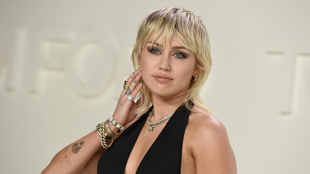 Miley Cyrus, US-amerikanische Schauspielerin und Sängerin, besucht in den Milk Studios die Tom-Ford-Show