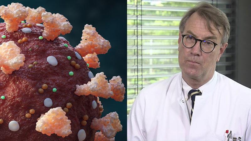 Neue Forschungen zeigen: Das Spike-Protein des Coronavirus ist auch ohne Virus gefäßschädigend. Dr. Georg-Christian Zinn, Direktor des Hygienezentrums Bioscientia, erklärt, was das nun für Therapie und Impfung bedeutet.
