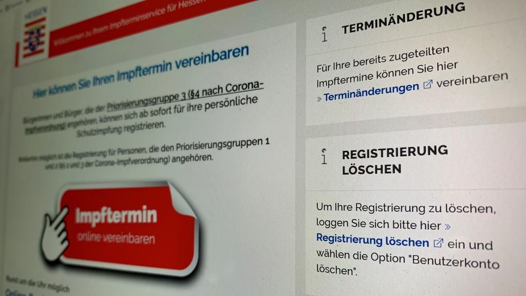 Der Impfterminservice in Hessen ermöglicht auch die Absage registrierter Impftermine.