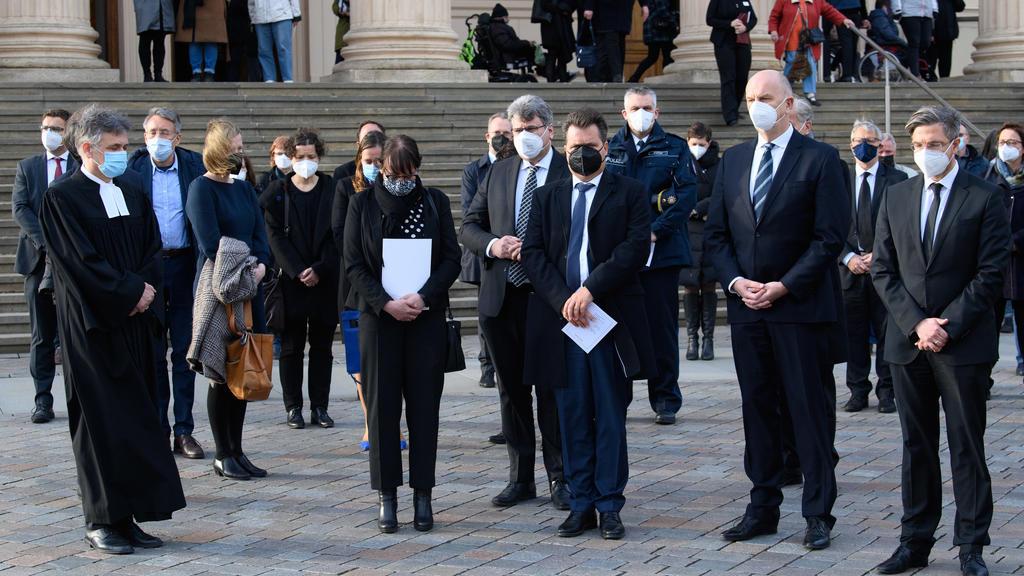 Gedenkgottesdienst für die getöteten Bewohner des Oberlinhauses.