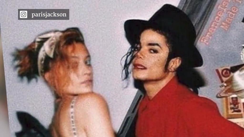Vipstagram: Paris Jackson auf einer Foto-Collage mit ihrem verstorbenen Vater Michael Jackson.