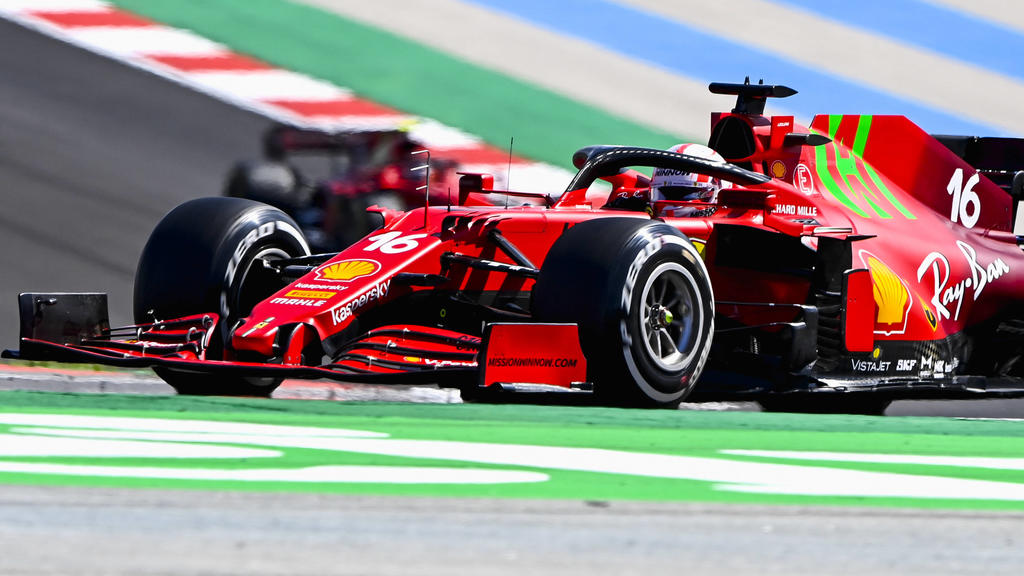 Formula 1 2021: Portuguese GP ALGARVE INTERNATIONAL CIRCUIT, PORTUGAL - MAY 02: Charles Leclerc, Ferrari SF21 during the Portuguese GP at Algarve International Circuit on Sunday May 02, 2021 in Portimao, Portugal. Photo by Mark Sutton / Sutton Image