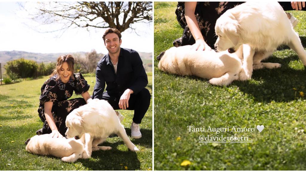 Mandy Capristo mit ihrem Freund Davide und ihren beiden Hunden.