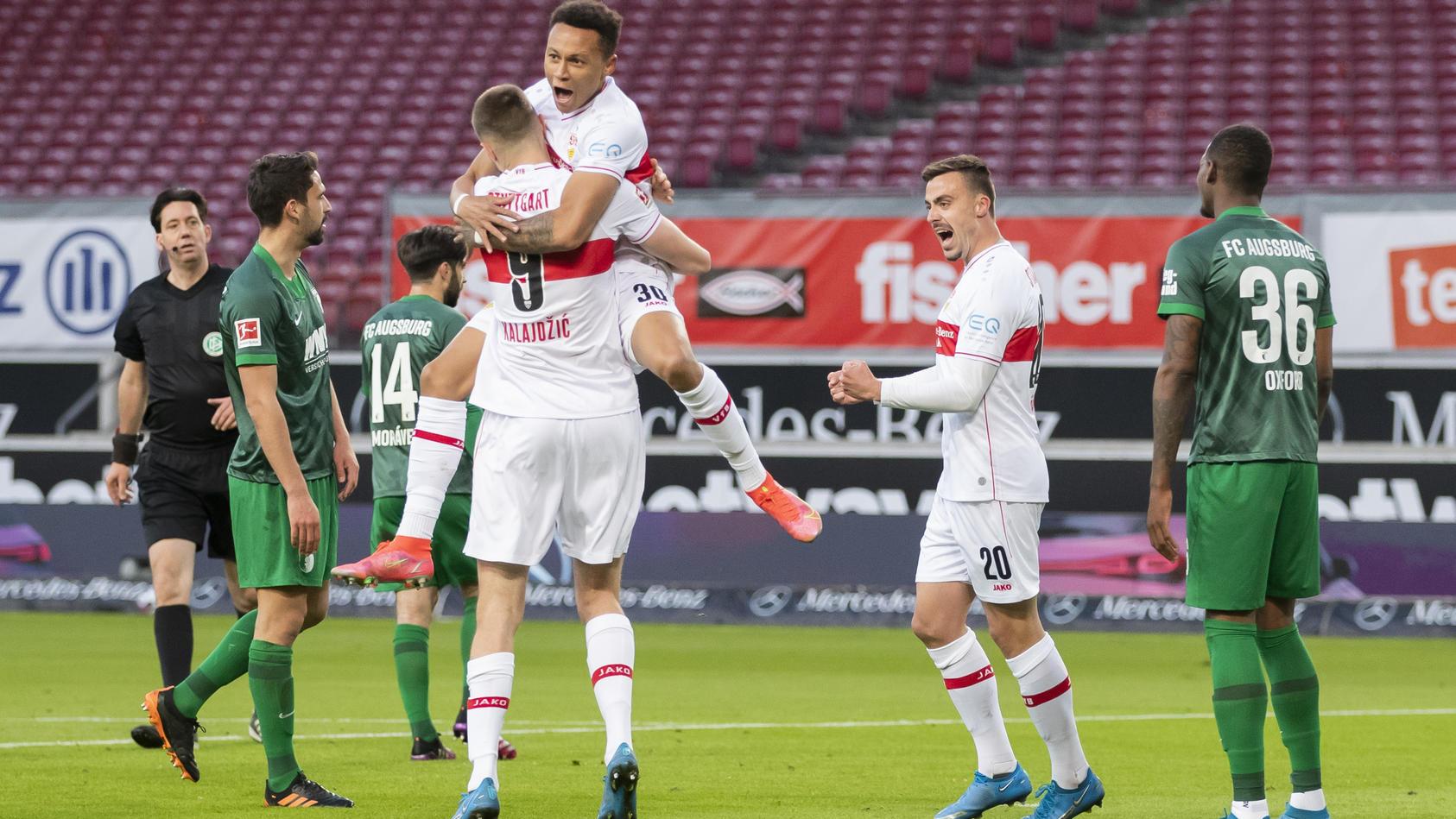 Sasa Kalajdzic gelang der Stuttgarter Siegtreffer gegen Augsburg