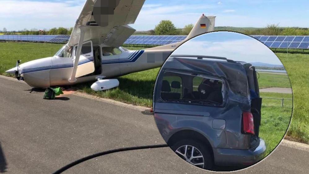 Kollision mit Flugzeug in Ballenstedt