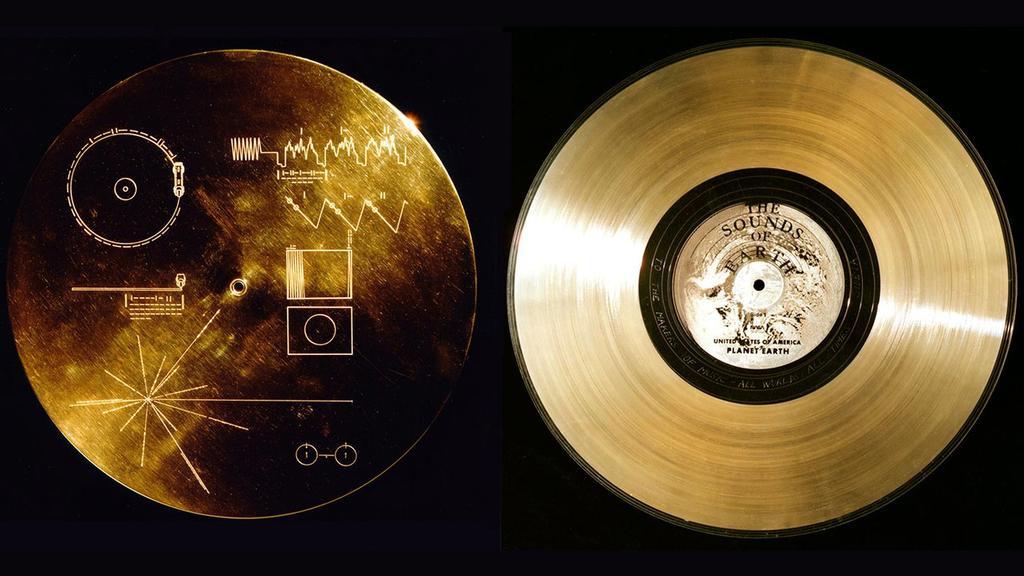 Die Voyager-Sonden haben beide goldene Schallplatten dabei.