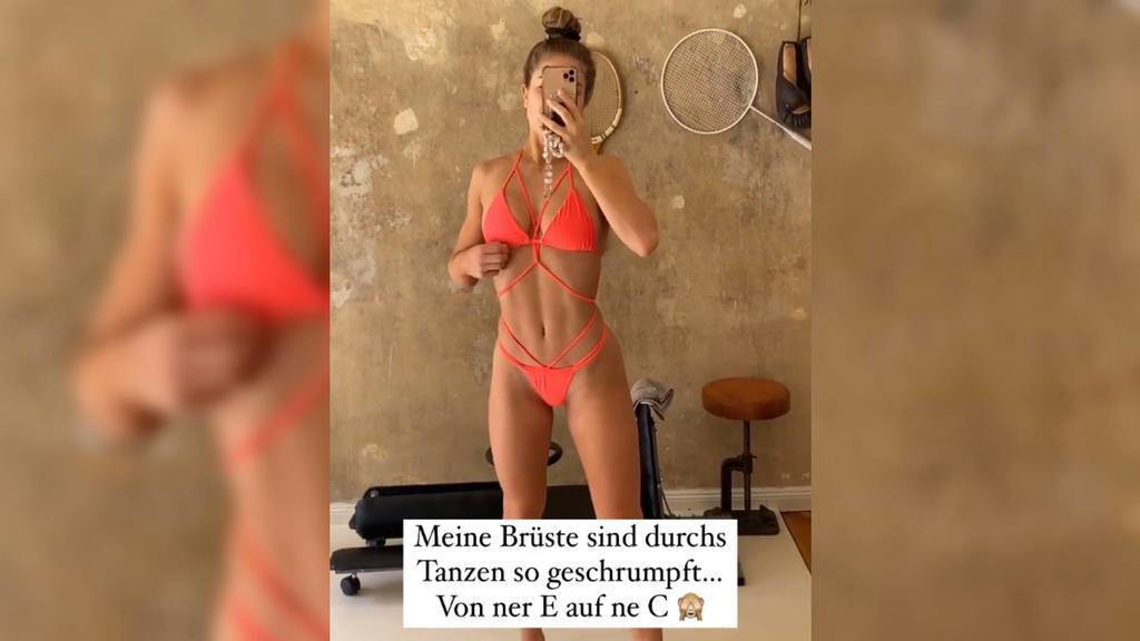 """Lola Weippert spricht in ihrer Instagram-Story über die körperlichen Veränderungen durch """"Let's Dance"""""""