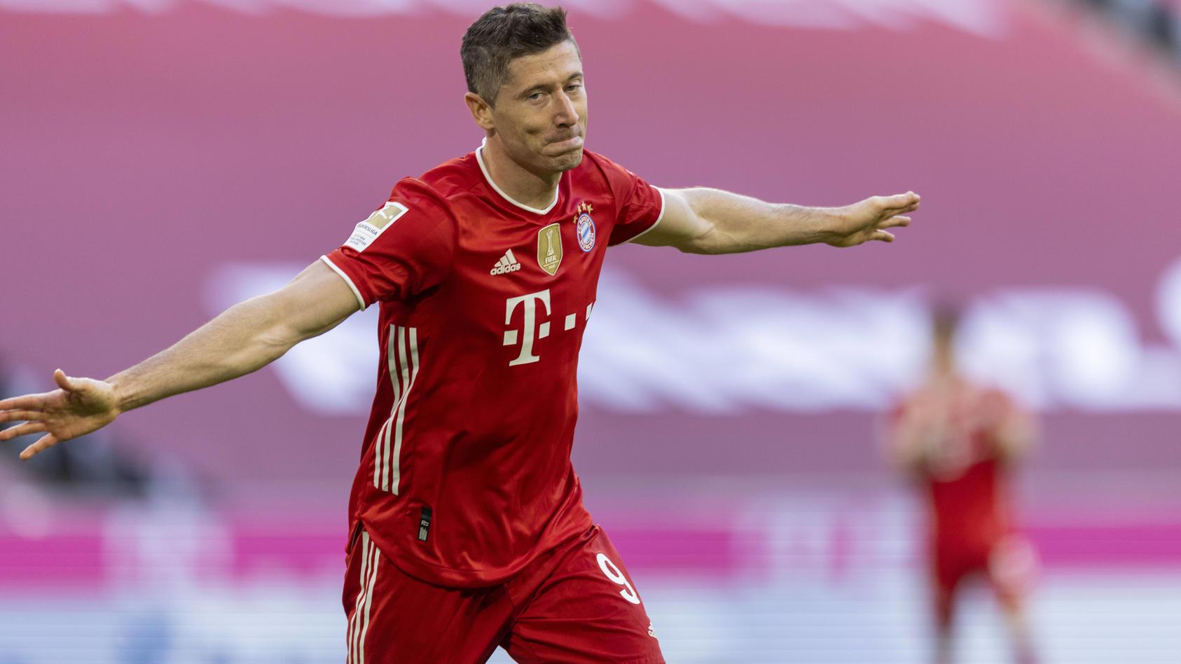 Robert Lewandowski hat zwei Spieltage vor Schluss schon 39 Tore auf seinem Konto