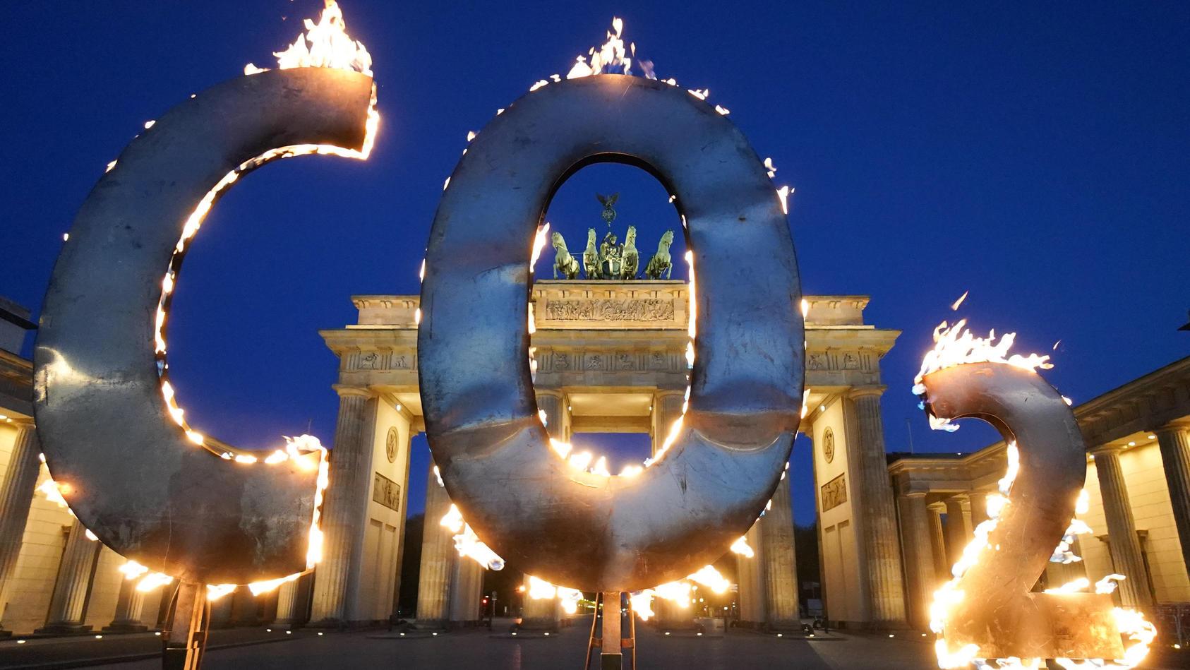 Klimaprotest vor dem Brandenburger Tor