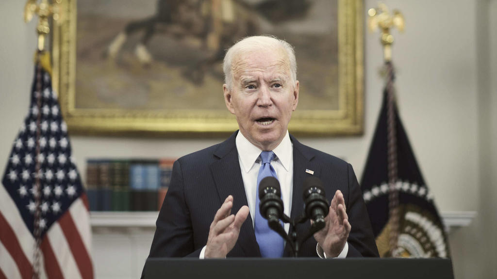 May 13, 2021, Washington, District of Columbia, USA: United States President Joe Biden speaks about the Colonial Pipeline hacking incident, in the Roosevelt Room at the White House in Washington, D.C., on May 13, 2021. The company announced that the