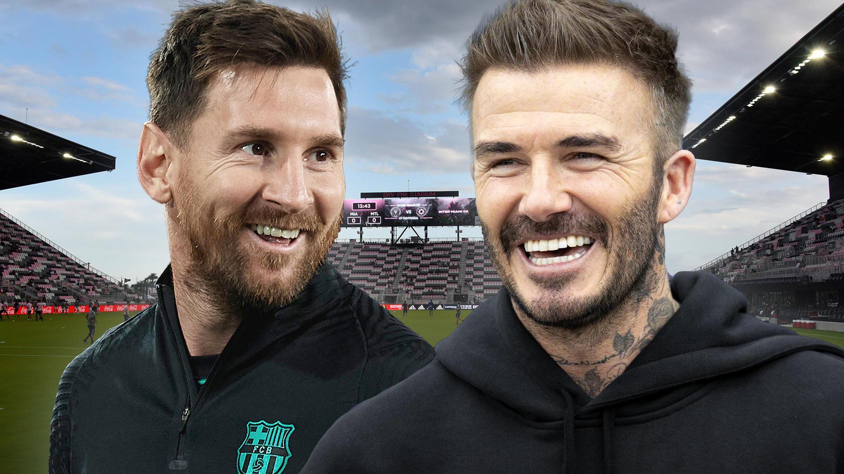 Lionel Messi (l.) könnte zu David Beckhams Club Inter Miami wechseln.