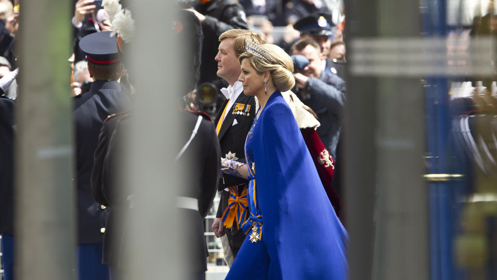 Willem-Alexander und Máxima bei der Krönung im Jahr 2013