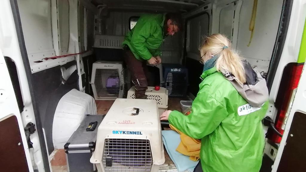 Fotos von der Evakuierung in Nauen
