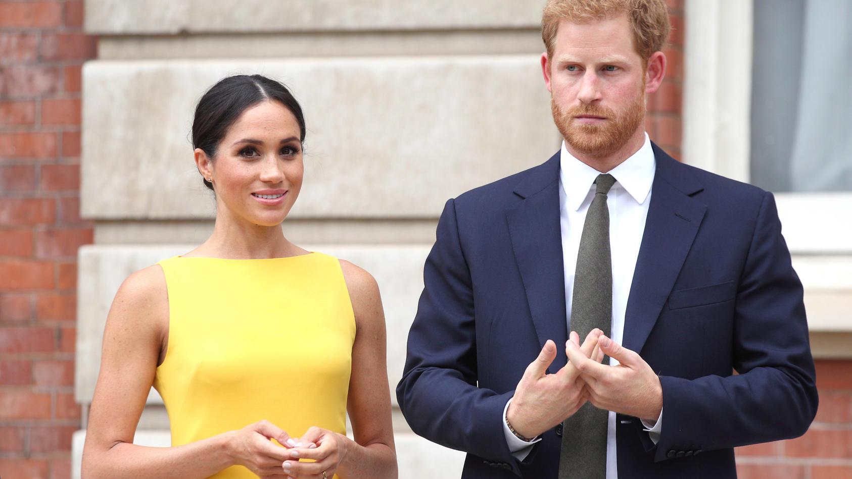 Herzogin Meghan hat ihren Mann Harry immer gut im Blick.