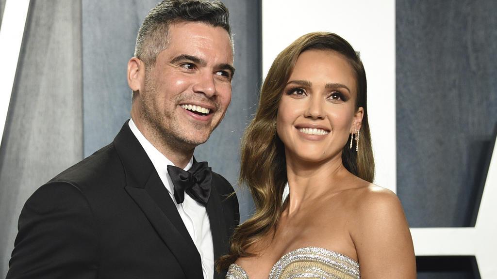 Cash Warren und Jessica Alba auf der Oscar Party 2020.