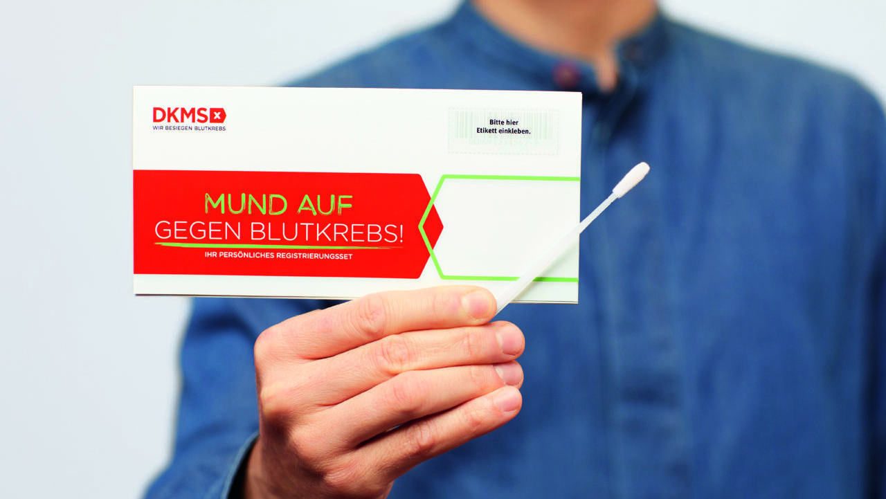 Dieses Registrierungsset wird Ihnen von der DKMS zugeschickt.