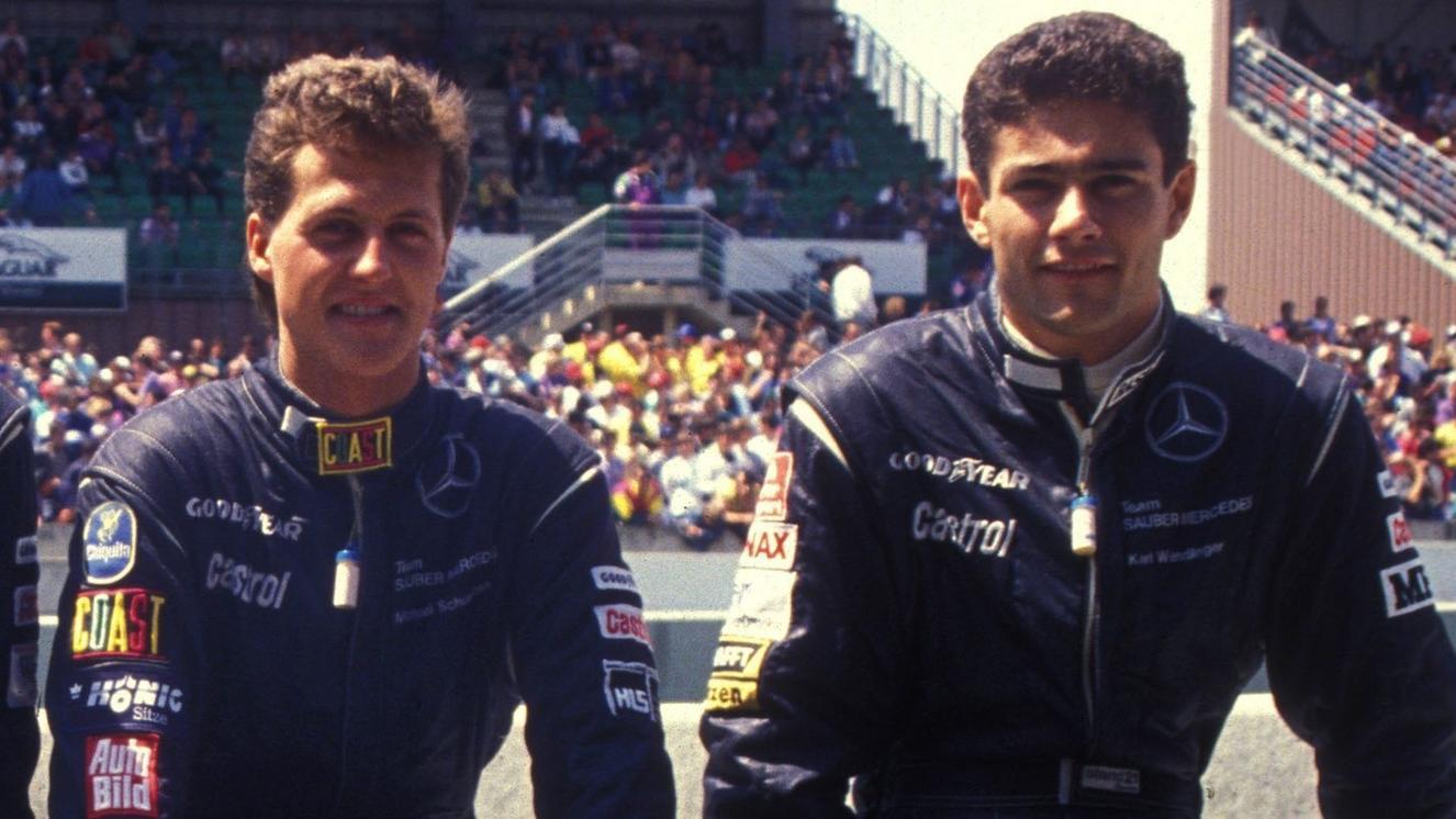 Michael Schumacher und Karl Wendlinger