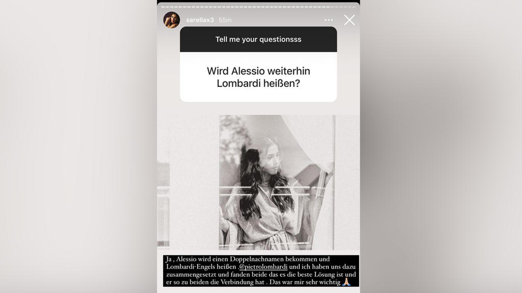 Sarah verriet uns auch die Neuigkeit über Söhnchen Alessio (5).