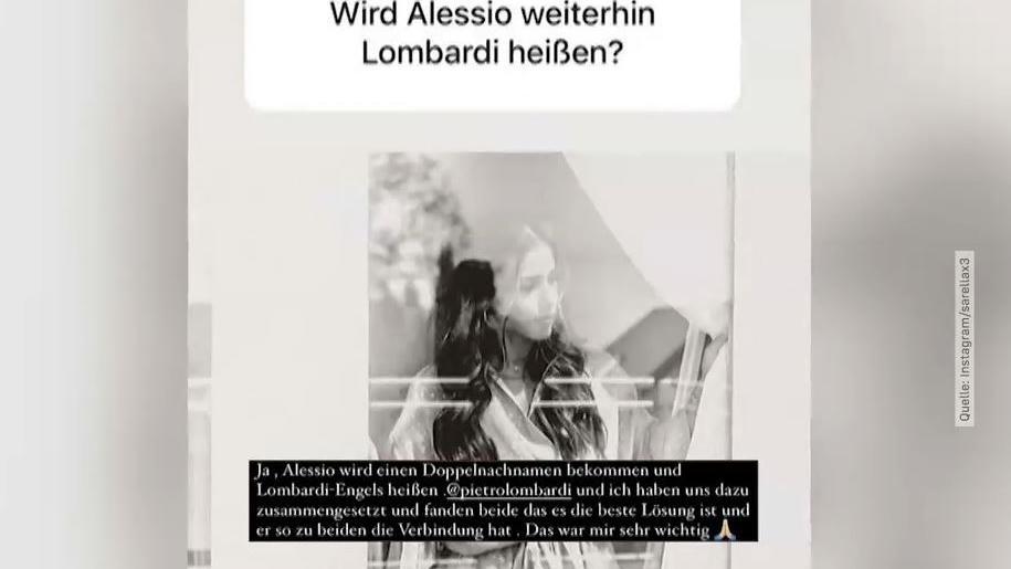 Sarah erklärt auf Instagram, wie Söhnchen Alessio zukünftig heißen wird.