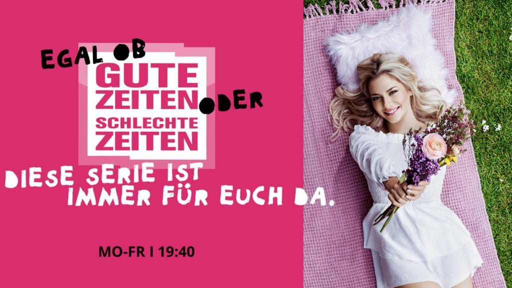 Valentina Pahde posiert für die neue RTL-Kampagne zu den täglichen Serien.