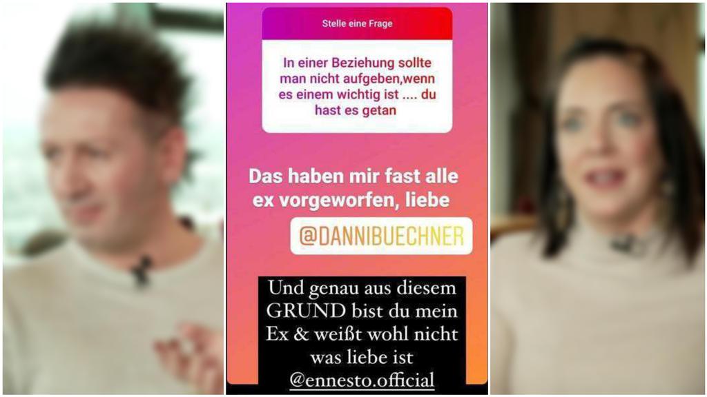 Ennesto Monté und Danni Büchner streiten sich öffentlich auf Instagram