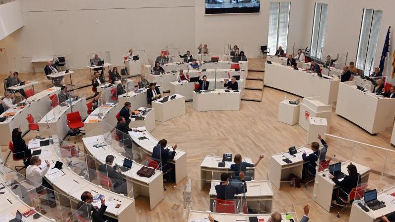 Der Landtag in Brandenburg. Foto: Bernd Settnik/dpa-Zentralbild/dpa/Archivbild