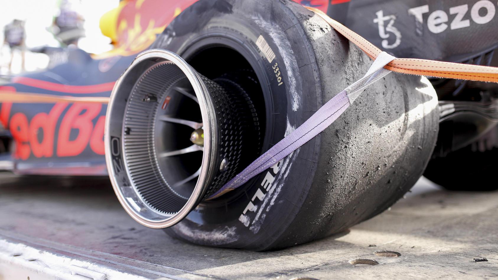 Trauriger Reifen