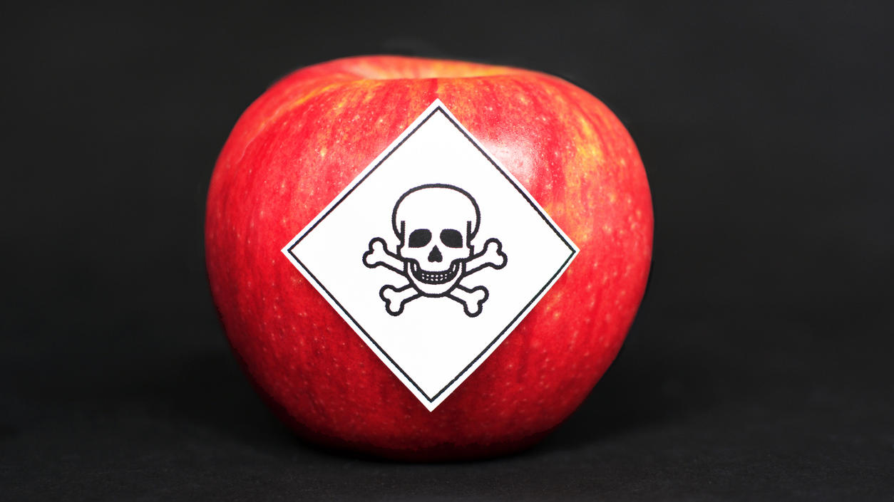 Pestizidrückstände in landwirtschaftlichen Lebensmitteln sind gefährlich für den Menschen.