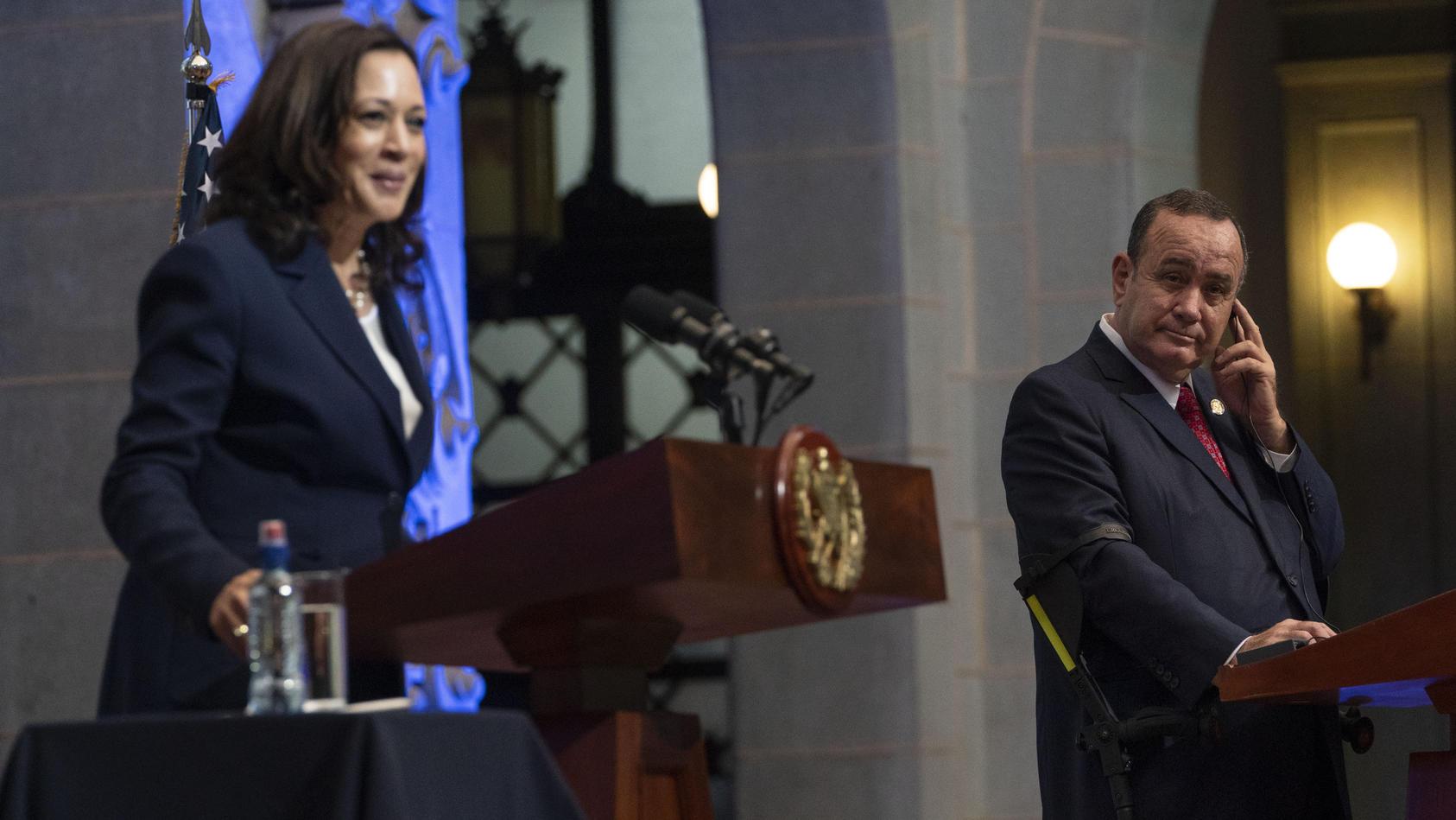US-Vizepräsidentin Harris besucht Guatemala.