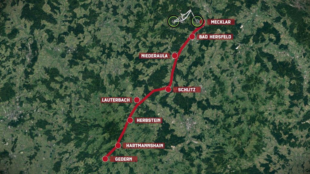 Route von Reporter Cord Eickhoff